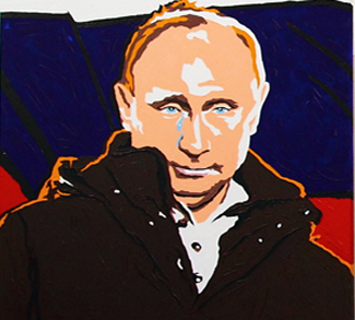 PutinPainting, cc Flickr modified, Nikolay Volnov, https://creativecommons.org/licenses/by-sa/2.0/